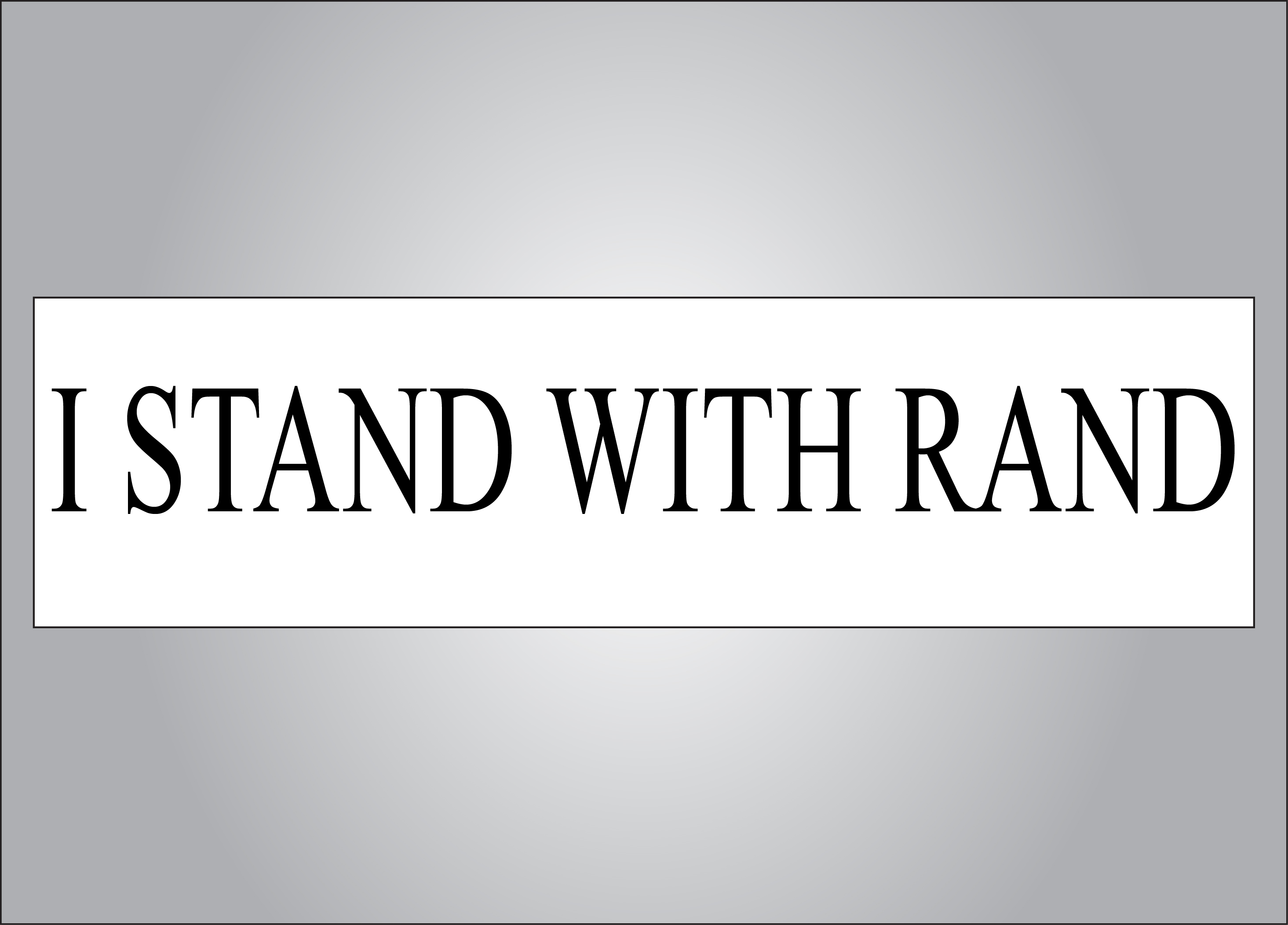 Take a stand with the only politician that stands for you.