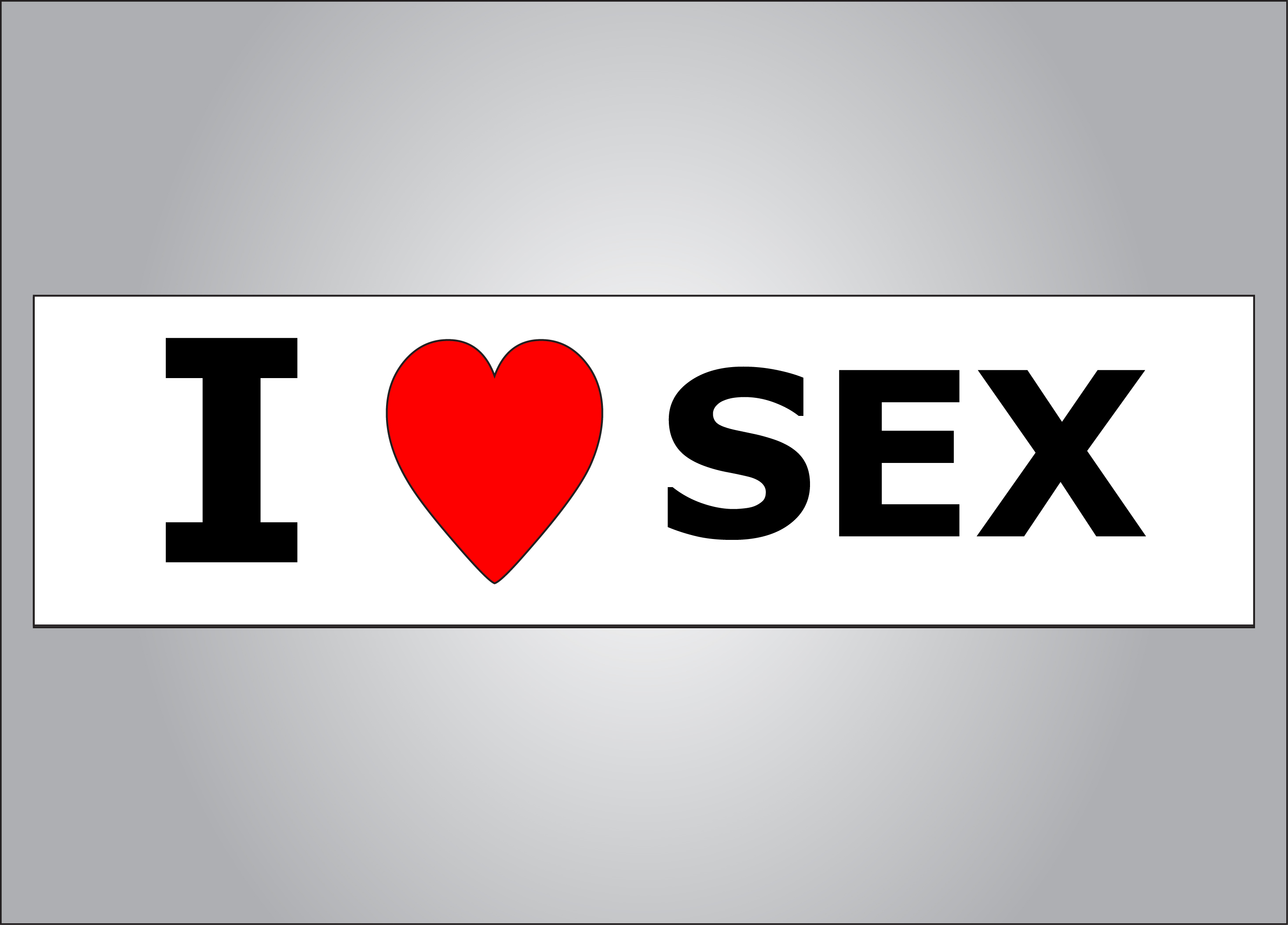 Who doesn't love sex?
