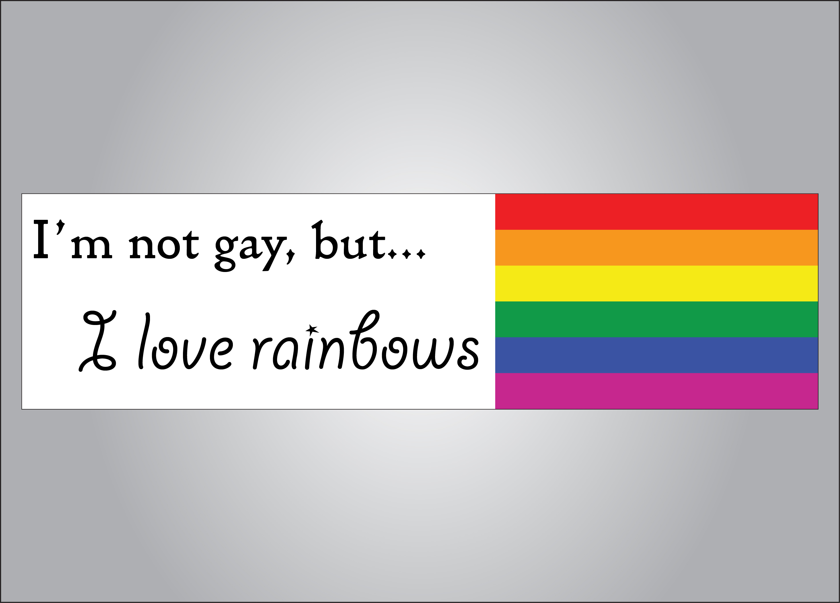 You can have a rainbow even if you are not gay!