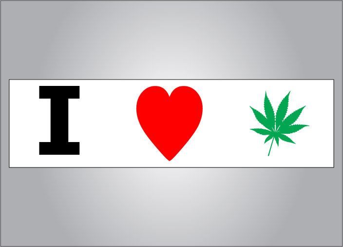 It is legal in many states for medical and some states for recreational use.  Show your support with this pro pot bumper sticker.