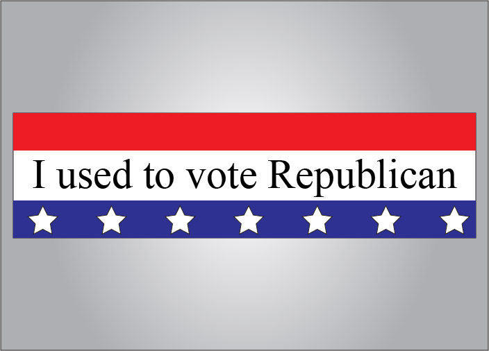 I used to vote Republican bumper sticker