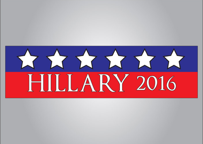 Vote hillary 2016 political bumper sticker