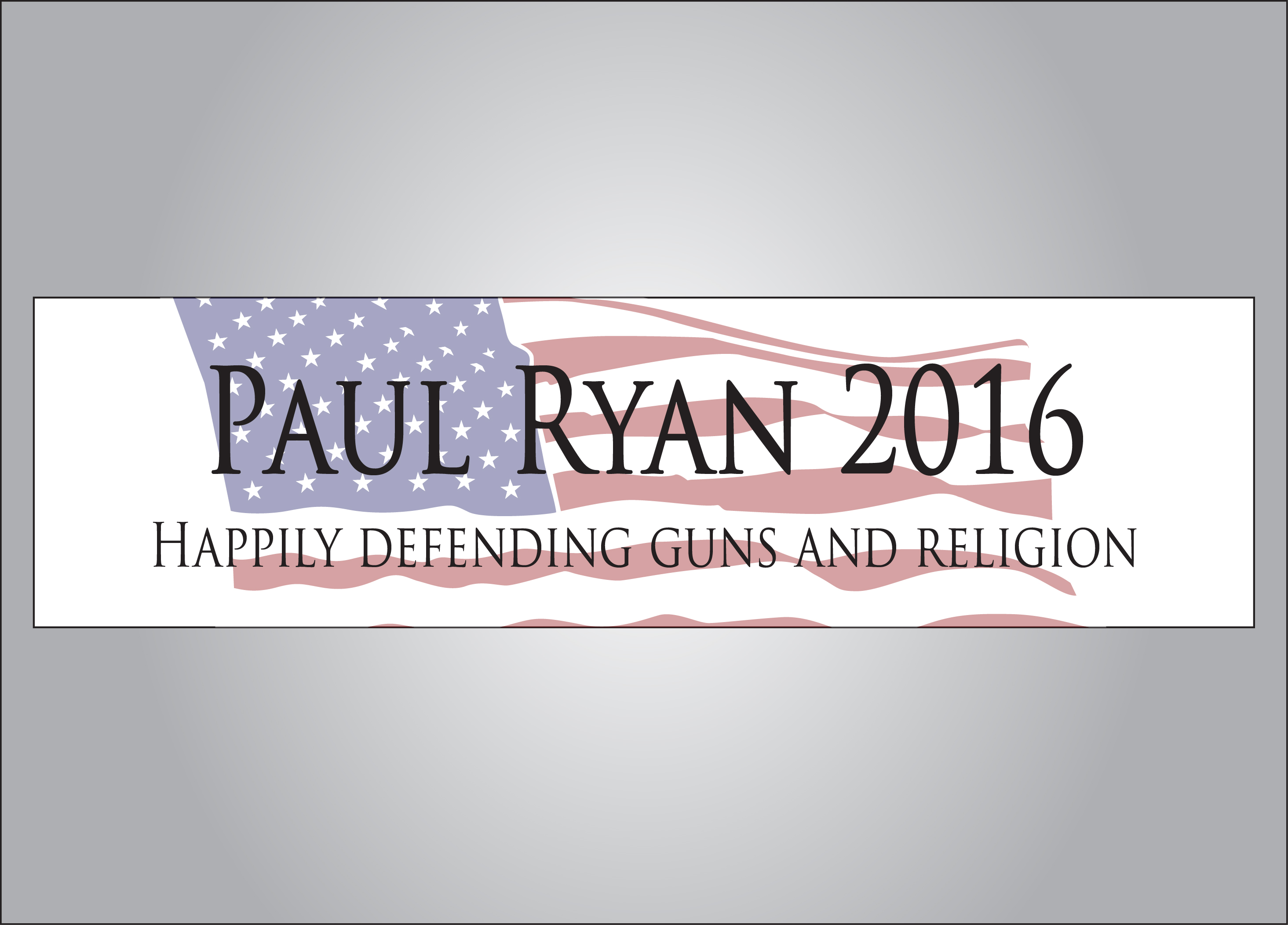 Vote Paul Ryan 2016 political bumper sticker