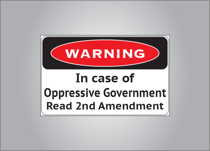 Show your support for the 2nd amendment with this warning sticker.