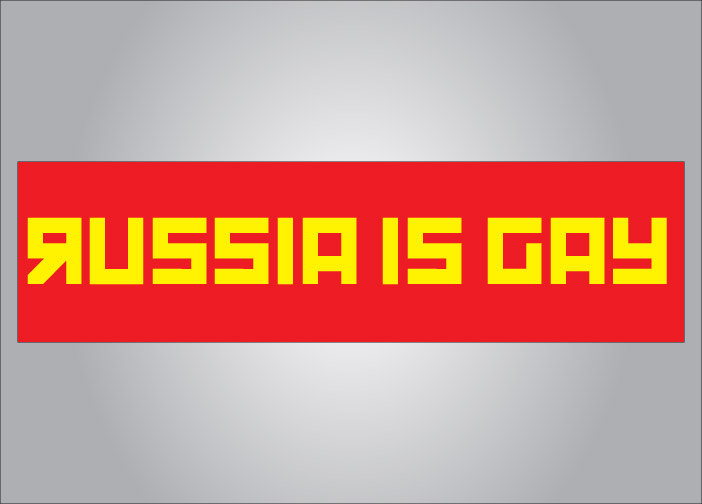 Russia is gay bumper sticker