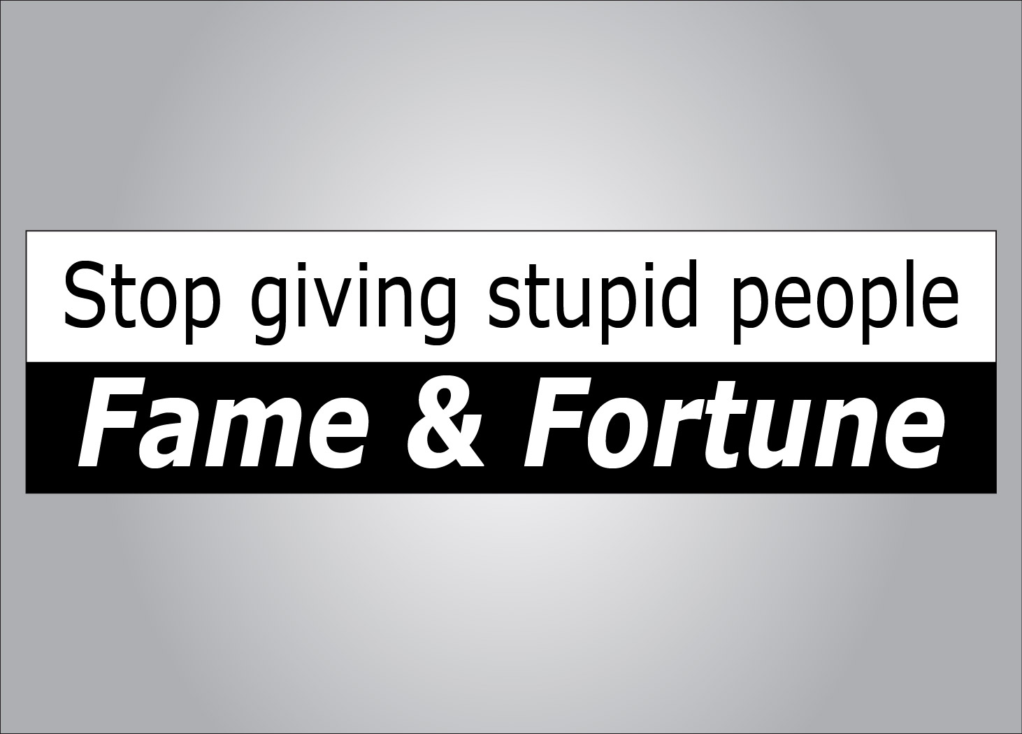 Stupid people do stupid things with their fortunes...