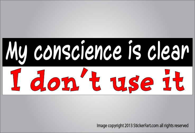 Easy way to clear your conscience...